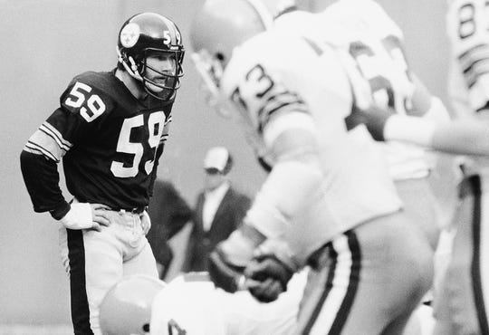 Jack Ham was a four-time Super Bowl champion and was the league's NFL Defensive Player of the Year in 1975.