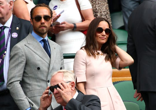 Pippa Middleton and her brother James attend Wimbledon 2019 on July 8 in London.