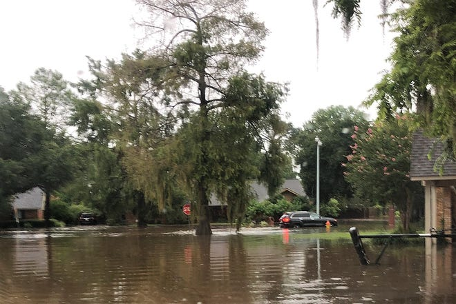 Streets in Charles Park are flooded after a severe rain event in July.