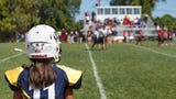 Meet Raeana Tarantino, 11, who's tearing it up as a top player on the Toms River Indians football team.
