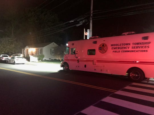 Emergency vehicles were parked on Ocean Avenue, where authorities investigated a suspicious death Oct. 7.