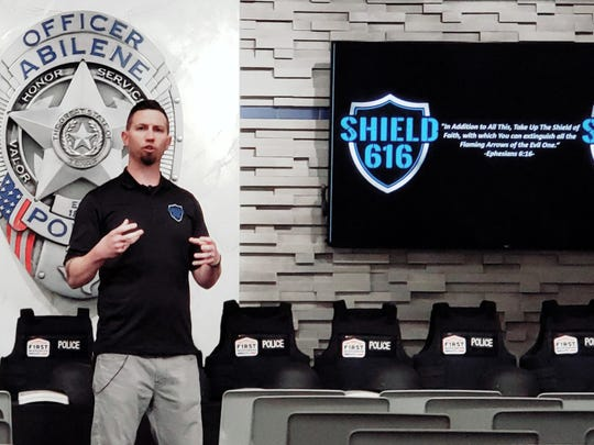 Chris Brown, vice president of Shield 616, flew in from Colorado to present new armor and helmets to the Abilene Police Department.