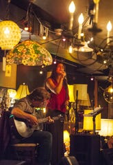 Michael Chorney and Miriam Bernardo perform at the Light Club Lamp Shop during the Burlington Discover Jazz Festival in 2015.