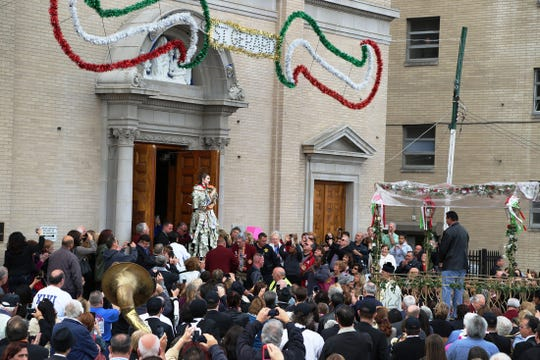 Celebrity Charity: Processions at St. Lucy's Church, the National Shrine of St. Gerard, in Newark will be Oct. 16, 19, and 20th as part of the Feast of Saint Gerard Maiella each year. Pictured is last year's procession.