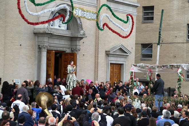 Processions at St. Lucy's Church, the National Shrine of St. Gerard, in Newark will be Oct. 16, 19, and 20th as part of the Feast of Saint Gerard Maiella each year. Pictured is last year's procession.