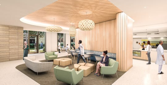 "St. Elizabeth Healthcare will be dedicating an entire floor of its new cancer center for a ""holistic, patient-centered approach to care"" with a new partnership with doTERRA International. Cancer Care Cancer Center Renderings Dec. 2018."