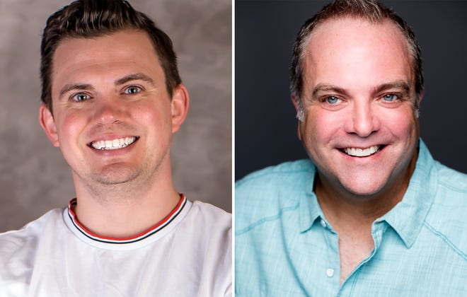 """Ryan Bowie and Brian Best star in """"Greater Tuna"""" in the Roxy Regional Theatre's theotherspace, Oct. 14-22."""