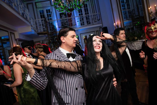 The second annual Addams Fest returns to Westfield throughout October with a nearly a dozen family-friendly events, plus a few ookie ones for adults only.  Pictured is Morticia and Gomez's Masquerade Ball at The James Ward Mansion, which will take place Oct. 19.