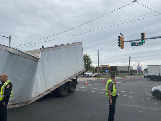 Drivers are urged to avoid the area of Route 1 and South Park Avenue in Linden following a tractor trailer accident.