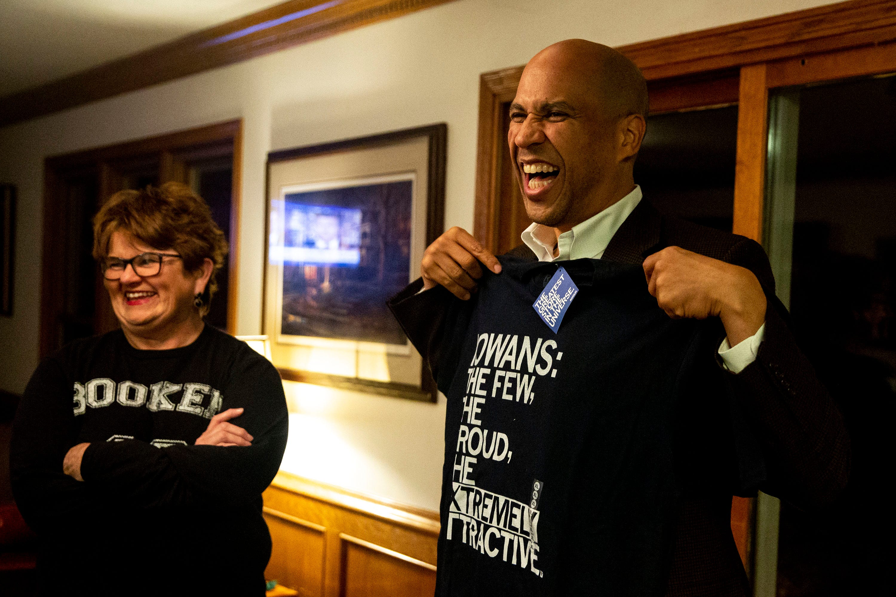 Photos: Cory Booker skips hotel, stays with Iowans instead