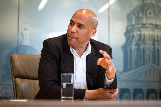 2020 presidential candidate and U.S. Sen. Cory Booker (D-New Jersey) meets with the Register's editorial board on Oct. 8, 2019.