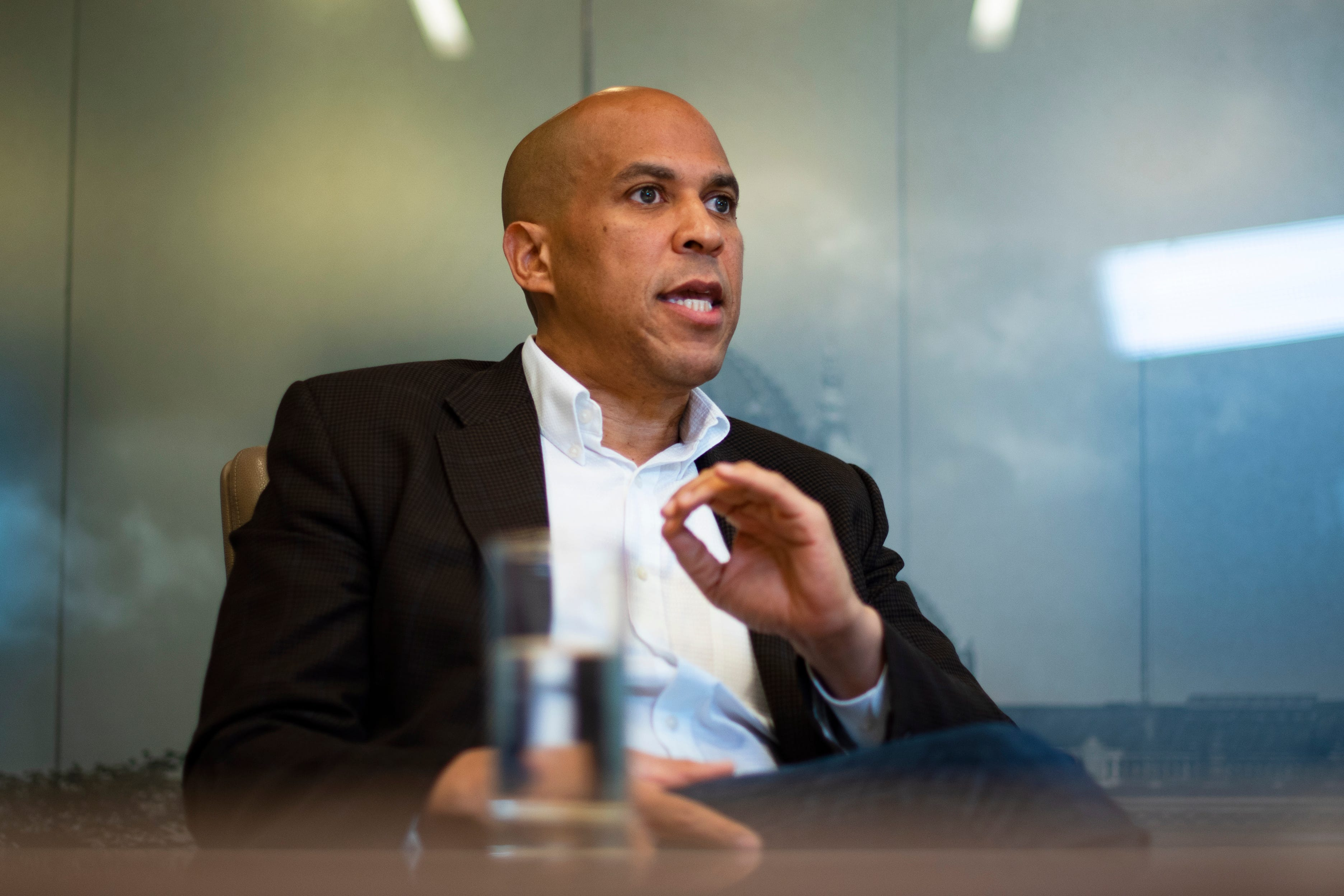 Cory Booker meets with the Register's editorial board