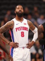 Detroit Pistons forward Markieff Morris against the Orlando Magic in a preseason game Monday, Oct. 7, 2019 at Little Caesars Arena.