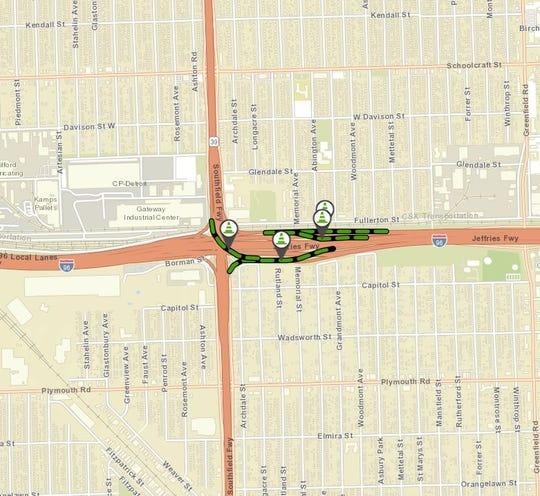 Urgent bridge repairs will force ramp closures at the Interstate 96/M-39 interchange in Detroit.