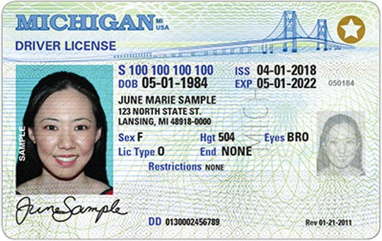 REAL ID-compliant driver's licenses have a star on top of the card.