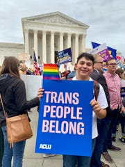Julian Boehm, 17,  of New York City came to the Tuesday rally (Oct. 8, 2019) outside of the U.S. Supreme Court. The high school junior said he wanted to make a statement about a court decision that will affect his future.
