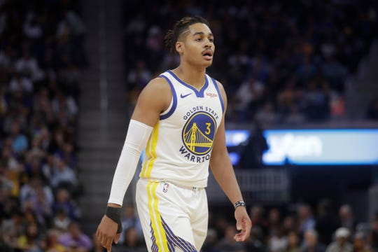 Former Michigan guard Jordan Poole was the Golden State Warriors' first-round draft pick in June.