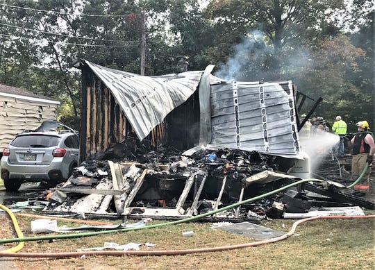 One person was seriously injured Tuesday in this mobile home fire in Towanda.