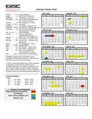 EVSC 2020-21 Calendar
