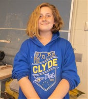 Paige Sutphin is the winner  of the Clyde Halloween button contest.