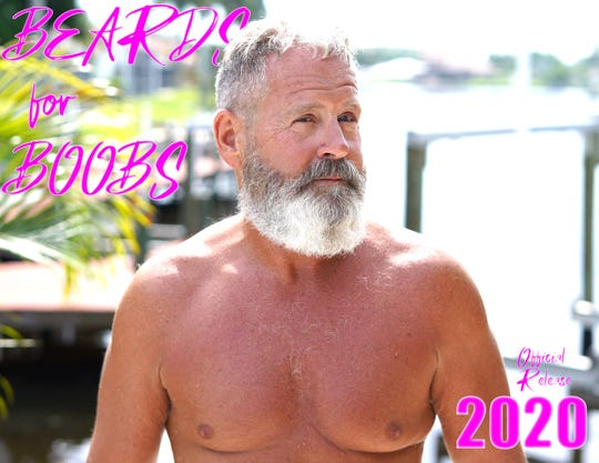 """Eight-Foot Brewing is fundraising for Partners for Breast Cancer with a, ahmm…""""Beards for Boobs"""" calendar."""
