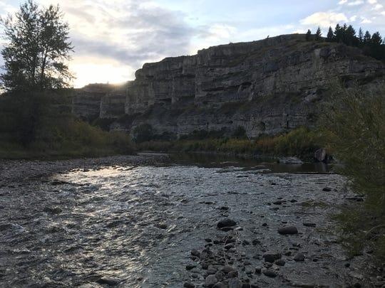 Dusk along Belt Creek at Sluice Boxes State Park