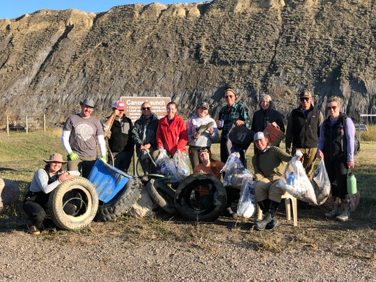 Eleven volunteers and two staff from Friends of the Missouri River Breaks cleared 250 lbs of trash from the Missouri River Sunday