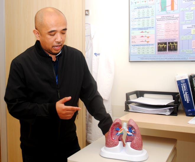 Guam Regional Medical City's Dr. Michael Agustin, a pulmonary and critical care physician.