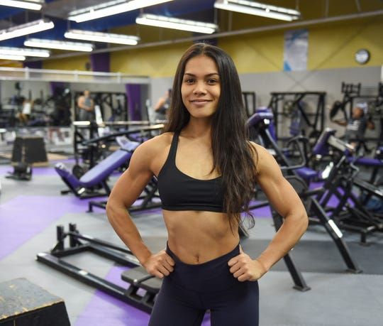 Jeralyn Mesa at Paradise Fitness Center in Hagåtña, Oct. 8, 2019. Mesa will be competing in the Olympia Amateur Japan 2019.
