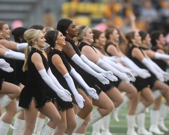 The Dixie Darlings perform prior to the homecoming game against UTSA in M.M. Roberts Stadium on Saturday, October 20, 2018.