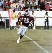 Mississippi State quarterback Don Smith played in Starkville from 1983-86. Smith led the Bulldogs to an upset victory over No. 8 Tennessee in his senior season.