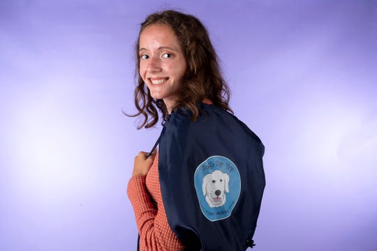 Ariane Burt, member of the Knox.biz 20 Under 20 class of 2019, in the Knox News photo studio in Knoxville, Tennessee on Tuesday, October 1, 2019.