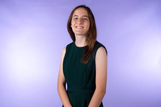 Julianna Gallup, member of the Knox.biz 20 Under 20 class of 2019, in the Knox News photo studio in Knoxville, Tennessee on Tuesday, October 1, 2019.