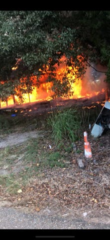 """A fire destroyed a """"known drug house"""" in Carencro on Wednesday."""
