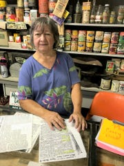 Sandy Alvis runs the general store museum at the Fairfield County Fairgrounds. The building dates back to 1885 in Dumontville and has been at the fairgrounds since 1969.