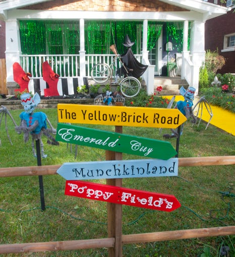 """A """"Wizard of Oz"""" themed home on Hillcrest Ave. welcomes Halloween visitors to the Crescent Hill thoroughfare.07 October 2019"""