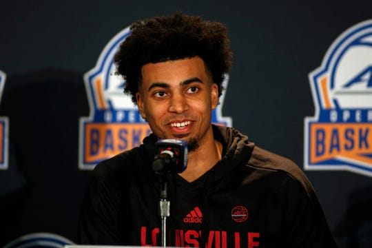 Jordan Nwora was all smiles at ACC media day, and for good reason.