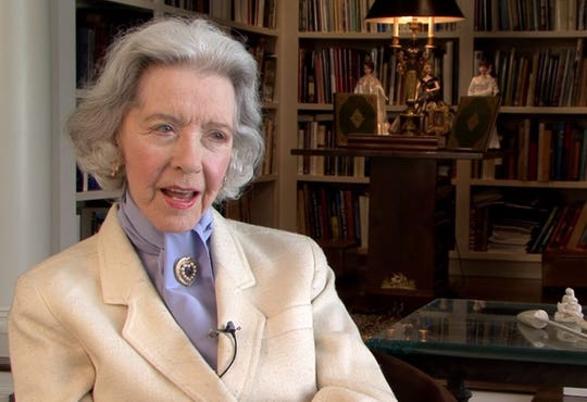 "Marsha Hunt being interviewed for the 2015 documentary ""Marsha Hunt's Sweet Adversity."""