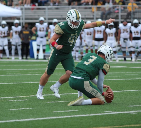 Even though he did no placekicking in high school, Lexington grad AJ Nickoli leads Tiffin University and all kickers in the Great Midwest Athletic Conference in scoring.