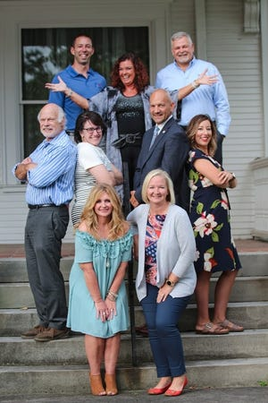 From left, front, Angie Tanner-Miller and Kathie Seckel; second row, Ted Graham, Dr. Amy Adams, Dr. Ron Iarussie and Clarissa Myers; and back,  Jason Kirkman, Cindy Peltie and, Rob Knight. Not pictured: Mike Makowski.