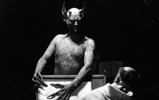 "Could it be... Satan? The answer is ""Yes!,"" if you're watching ""Haxan."""