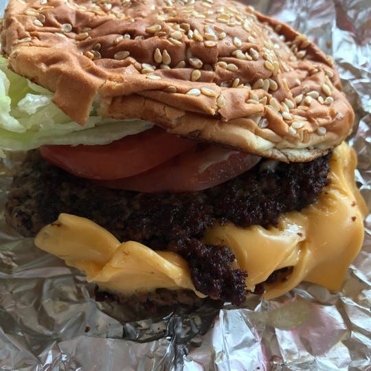 A double cheeseburger from Five Guys, which has locations in Glendale, Oak Creek, Wauwatosa, Brookfield and Delafield.