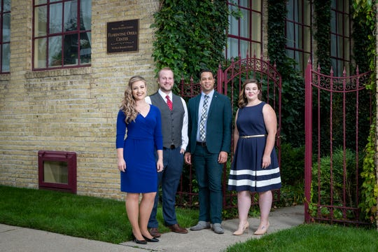 Florentine Opera's 2019-'20 Baumgartner Studio Artists include Meghan Folkerts, left, Luke Selker, Samuel James Dewese and Kathryn Henry. Henry, a Sheboygan South and UWM graduate, was a Met Auditions national finalist in 2015.
