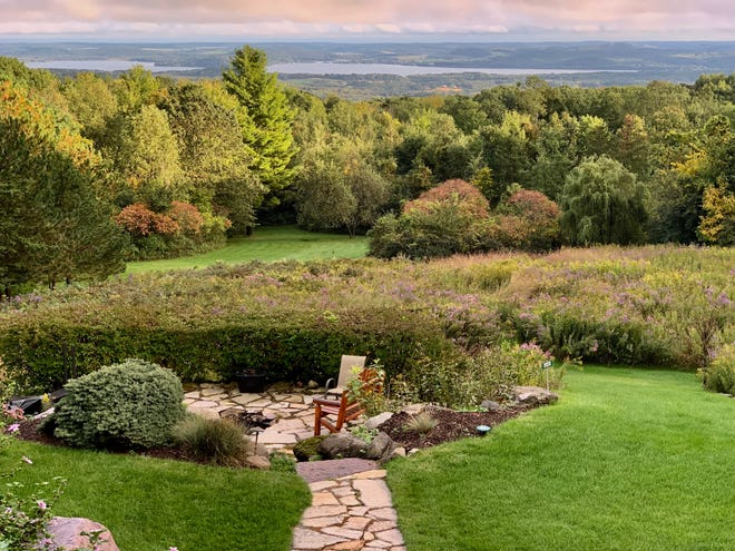 The view from the rear of the Inn at Wawanissee Point looks out over the Wisconsin River Valley, some 800 feet below.