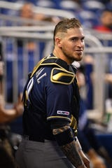 Catcher Yasmani Grandal spent one season with the Brewers before moving on to the Chicago White Sox in free agency.