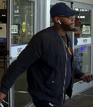 This is one of two suspects the Menomonee Falls Police Department is looking for in a retail theft at Best Buy, N94 W16855 Falls Parkway.