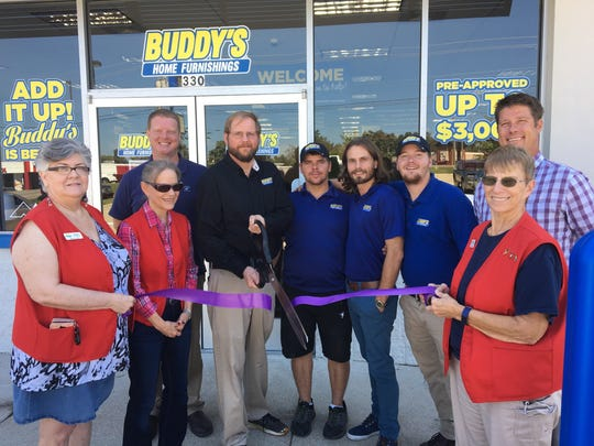 The Mountain Home Area Chamber of Commerce recentlyheld a ribbon cutting at Buddy's Home Furnishings, located at330 Highway 62 East in Mountain Home, to celebrate their newly remodeled store and entirely new staff.Store Manager Dan Wright says Buddy's has a price-match guarantee, in which they will meet or beat any other rent-to-own area competitor's price.Buddy's also services the products they sell, offering replacement products until the repair is complete.For those who haven't yet established credit, Buddy's has a nocredit check policy and rent-to-own options. Temporary rentals are also available for businesses such as realtors needing to stage a home or for that customer who wants a gigantic screen television for the big game.Delivery and set up arealways free. For more information visit their Facebook page or call (870) 425-3999.