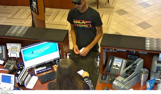 Murfreesboro police are seeking a bank robber who they say robbed a bank in  Murfreesboro on Tuesday, Oct. 8. 2019.