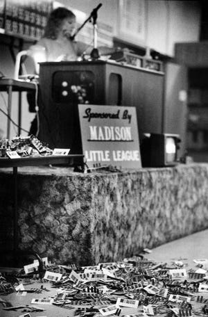 Bingo sponsored by Madison Little League in Oct. 29, 1987.