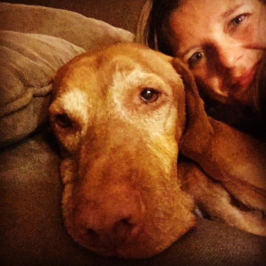 Tennessean columnist Jessica Bliss and her dog, Dale.